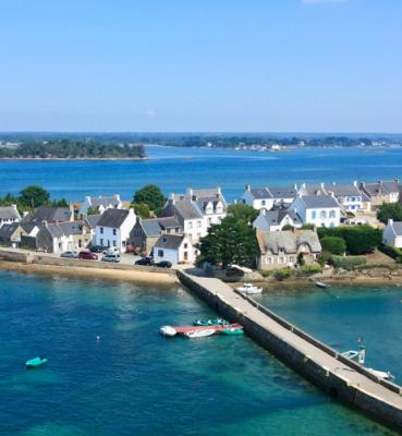 Photo aérienne Ria d'Etel dans le Morbihan (56)