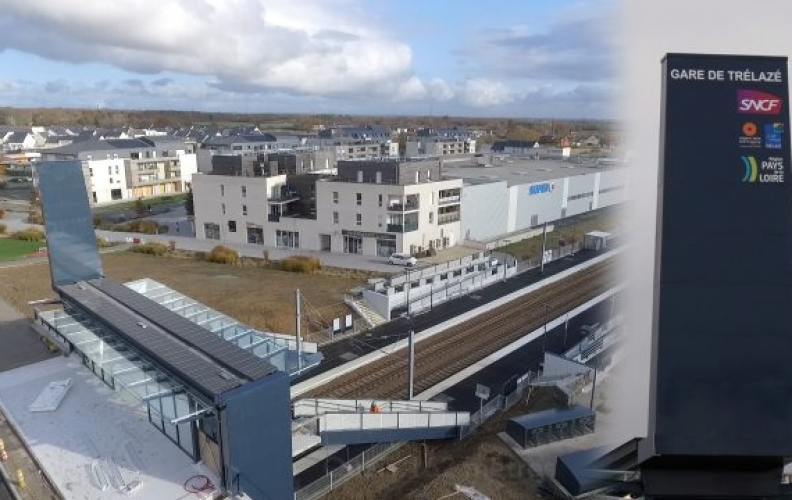Suivi de chantiers : halte SNCF de Trélazé.