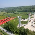 photo aerienne btp chantier pont